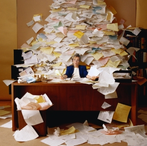 When does keeping a messy office amount to negligence?
